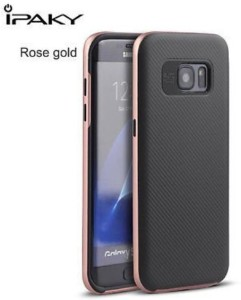 buy online c477c a43a7 IPAKY India Back Cover for SAMSUNG Galaxy S7 EdgeROSEGOLD