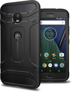 half off 1ffbe 0a58b Kapaver Back Cover for Moto G5 PlusBlack