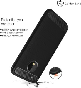 premium selection 4e751 c4cf3 Golden Sand Back Cover for Motorola Moto G5 PlusMetallic Black