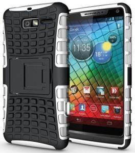 new style 4051b 580d0 Heartly Back Cover for Motorola Droid Razr M XT907Honest White