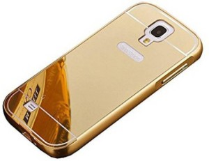 TRUE Back Cover for Metal Bumper Plus Acrylic Mirror Back Cover For Samsung Galaxy S4 Gold
