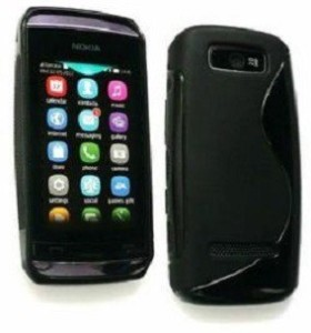 new styles a735e 83f1f Sprik Back Cover for Nokia Asha 305Black