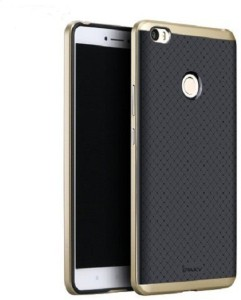 DHAN GTB Back Cover for iPaky Brand Luxury High Quality Ultra-Thin Silicon inner Black Back + PC Golden Frame Bumper Back Case For MI MAX