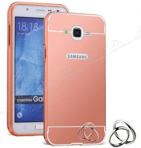 Spicesun Back Cover for Metal Bumper Plus Acrylic Mirror Back Cover For Samsung Galaxy J7