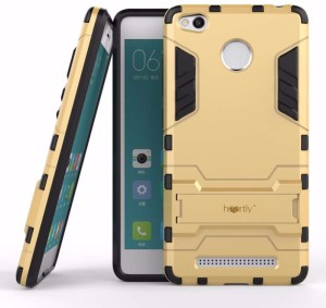 huge selection of d0dd5 f3366 Heartly Back Cover for Xiaomi Redmi 3S Prime / 3SMobile Gold