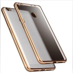brand new 25f5c 71f3d SpectraDeal Back Cover for Xiaomi Mi Max PrimeTransparent Chrome Gold  Border Soft