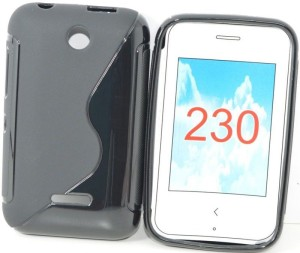 quality design f7e4c f1fb3 S Hardline Back Cover for Nokia Asha 230 Black Best Price in India ...