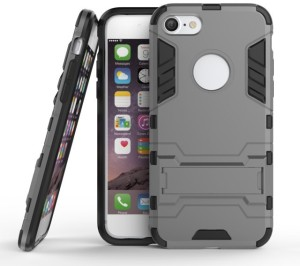 Mobile Mart Back Cover for Apple iPhone 7 Grey, Plastic