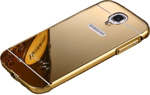 buy popular 91343 a0c52 CrystaTech Back Cover for Samsung Galaxy S4 Glossy Mirror Back Casegold