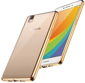 new arrival 8a83a 7e50a SpectraDeal Back Cover for Oppo A57Transparent Chrome Gold Border Soft
