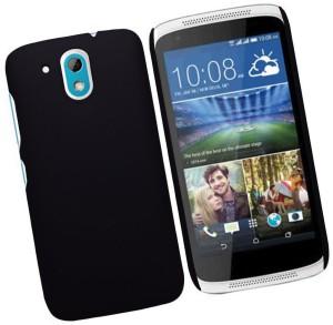 brand new f233d a41ea Case Creation Back Cover for HTC Desire 526G + Dual sim, HTC 526 G Plus,  HTC Desire 326G dual simDark Pitch Black