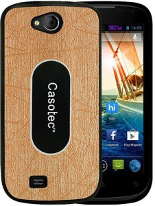 factory price 19ac3 ba1ad Casotec Back Cover for Micromax Canvas Elanza A93Gold