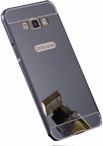 CrystaTech Back Cover for Luxury Air Aluminum Metal Bumper+ Mirror Back Case for Samsung Galaxy A7