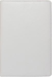 DMG PU Leather 360 Degrees Rotating Stand Case for Apple iPad Mini / Mini 2 (White) + 3.5mm Jewel Dust Jack Accessory Combo