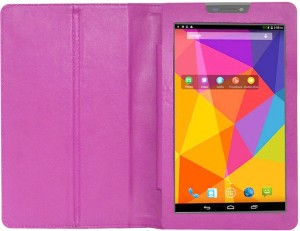 new arrival 3ef84 694b9 ACM Book Cover for Micromax Canvas Tab P480Pink