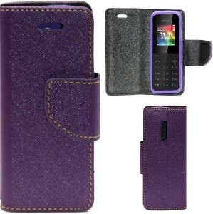 pretty nice defbf a7283 Gizmofreaks Flip Cover for Nokia 105Purple