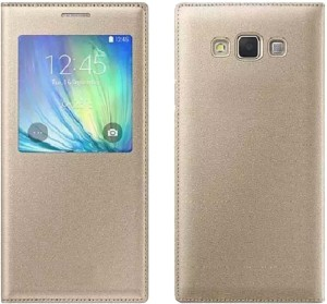 cel Flip Cover for SAMSUNG Galaxy On7 Gold Best Price in