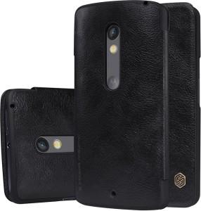 buy popular 5be9d 5cf76 Nillkin Flip Cover for Motorola Moto X PlayBlack