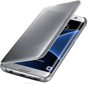 low priced 7ab86 3c4b0 Marshland Flip Cover for SAMSUNG Galaxy S7 EdgeSilver, Waterproof