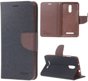 factory authentic 77aee de735 Accessories At Cost Flip Cover for Redmi note 4Brown