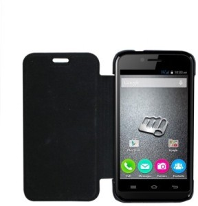 more photos df3bd 13bb0 WebKreature Flip Cover for Micromax Bolt S301Black