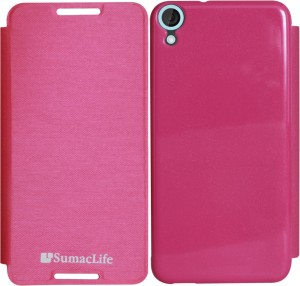 size 40 eeb17 3e270 SumacLife Flip Cover for HTC Desire 820Magenta
