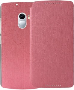 low priced e2d7a 3db71 MECase Flip Cover for Lenovo K4 NotePink