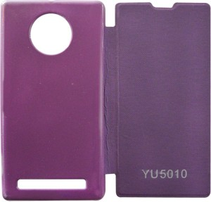 new style 8d45a 93b94 Coverage Flip Cover for YU Yuphoria YU5010Purple