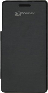 new product bb351 97a57 Vvage Flip Cover for Micromax Q395Black
