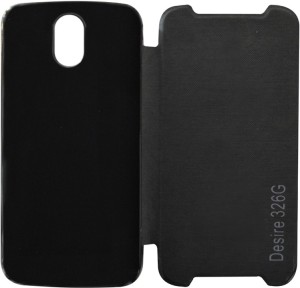 new product dc9d0 8388c Coverage Flip Cover for HTC Desire 326G dual sim Black Best Price in ...