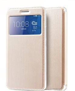 online store ff28d 8633e Kolorfish Flip Cover for Huawei Honor 6 PlusGolden