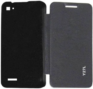 online store b1bee f1675 Lomoza Flip Cover for Vivo Y27LBlack
