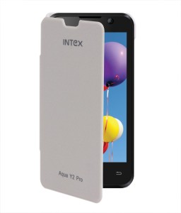 hot sale online e1b8e a35b9 Coverage Flip Cover for Intex Aqua Y2 ProWhite
