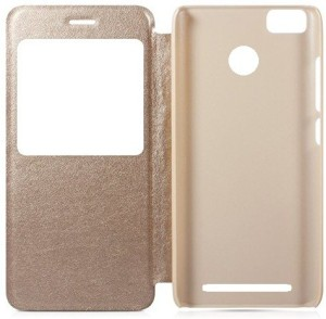 Piggycomz Flip Cover for Mi Redmi 3S Prime
