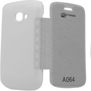 cheap for discount 46042 04d2d Platina Flip Cover for Micromax Bolt A064 WhiteWhite