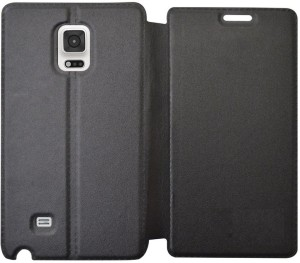 COVERNEW Flip Cover for Samsung Galaxy Note Edge ( Black )