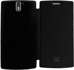newest c6383 dcda1 COVERNEW Flip Cover for OnePlus OneBlack