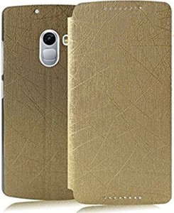 pretty nice 06fa4 ead35 Aspir Flip Cover for Lenovo K4 NoteGold