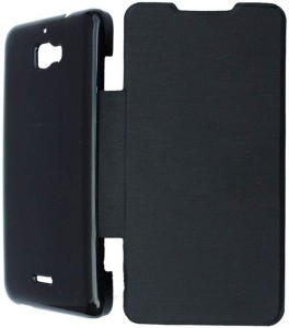 sports shoes bc24f 452e4 Foneys Flip Cover for Micromax Canvas Fun A76Black