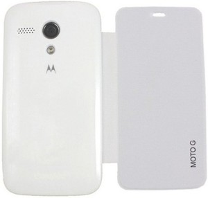 timeless design 588fa b675c Iway Flip Cover for Motorola Moto G (1st Gen) XT1033White