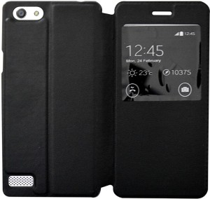 Coverage Flip Cover for Oppo A33FBlack