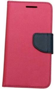 9c36b610a3b Mercury Flip Cover for Mi Redmi Note Pink Black Best Price in India ...