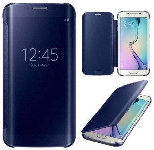 style clues flip cover for samsung galaxy s6 edge blue best price in