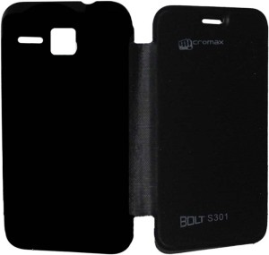 best cheap a767a 1d438 Giftico Flip Cover for Micromax Bolt S301Black