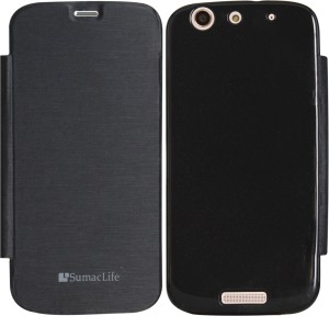 low priced 390dc aa384 SumacLife Flip Cover for Micromax Canvas Gold A300Black