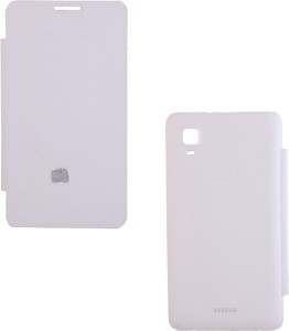 detailed look 5461b 574fb Iway Flip Cover for Micromax Canvas Doodle 3 A102White