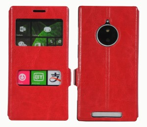 brand new 92f49 2455f Cubix Flip Cover for Nokia Lumia 830Red