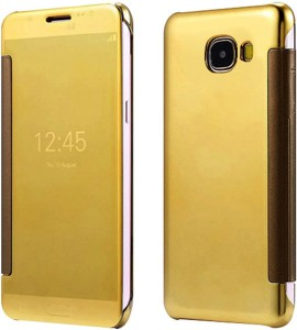 Casotec Flip Cover for SAMSUNG Galaxy J7 PrimeGold