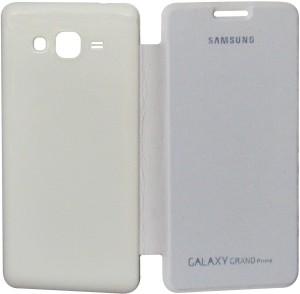 official photos 163fc 5245e VRV Flip Cover for Samsung Galaxy Grand Prime G530HWhite, Artificial Leather