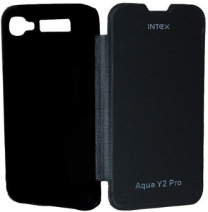 brand new 986f8 6ba37 Platina Flip Cover for Intex Aqua Y2 ProBlack
